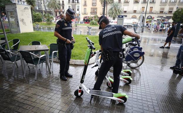 policia patinete