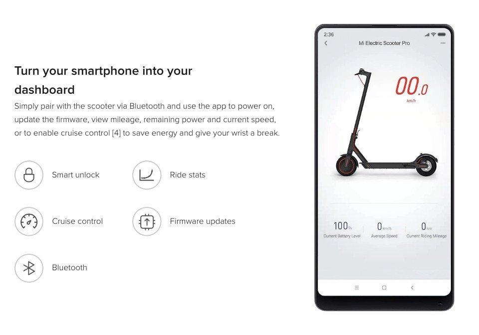 xiaomi m365 pro app movil