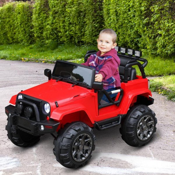 coche electrico rojo niño