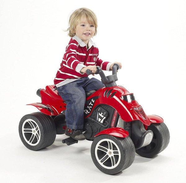 quad electrico niño rojo