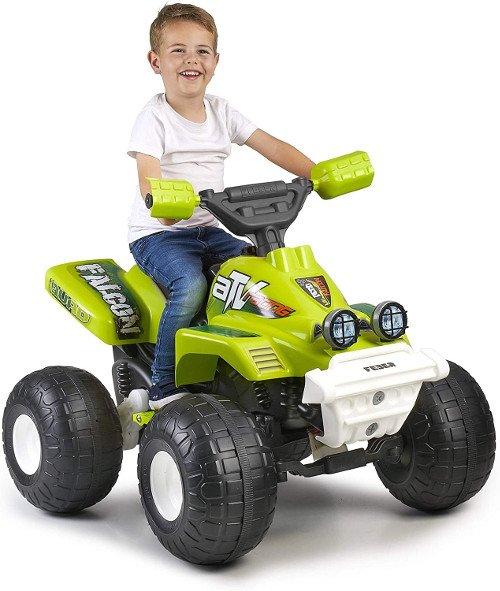 quad electrico verde niño