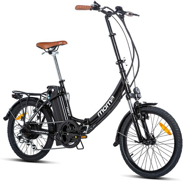bicicleta electrica moma negra