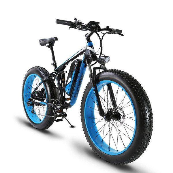 fat e-bike azul