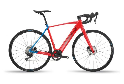 GRAVEL BIKE ELECTRIC BH CORE GRAVELX 2.4 SHIMANO 105 11V ROJO AZUL 2020
