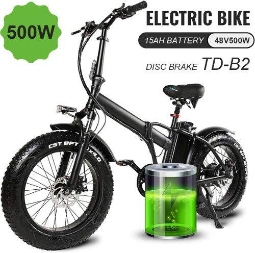 MARTES Bicicleta eléctrica plegable Fat Tire 20 4