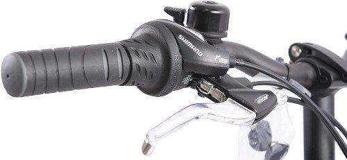 F.lli Schiano E- Sky Bicicleta eléctrica Plegable, Unisex Adulto, Blanca, 20 empuñadura