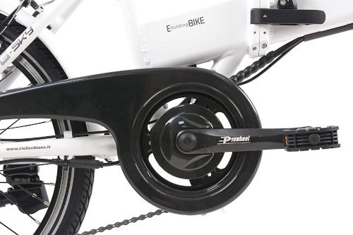 F.lli Schiano E- Sky Bicicleta eléctrica Plegable, Unisex Adulto, Blanca, 20 platos