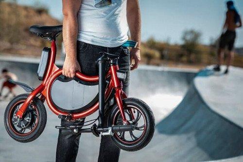 mini e-bike sin pedales hombre
