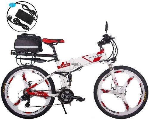 RICH BIT Bicicleta Eléctrica 250W Bicicleta Plegable de Montaña LG