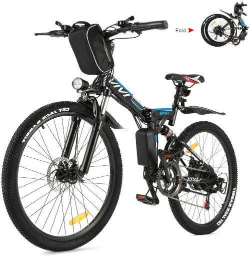 Vivi Bicicleta Eléctrica Plegable, 26 Bicicleta Montaña Adulto