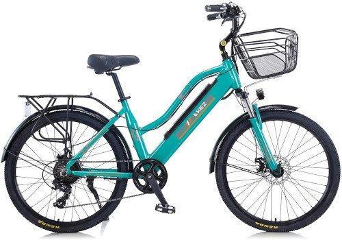 Hyuhome 2021 Upgrade Bicicletas eléctricas para Mujeres Adultas