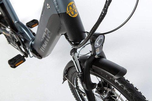 Moma Bikes Bicicleta Electrica Plegabe Ebike 20PRO parte delantera