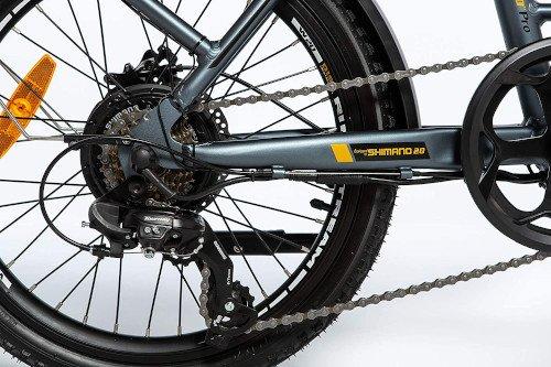 Moma Bikes Bicicleta Electrica Plegabe Ebike 20PRO trasero shimano