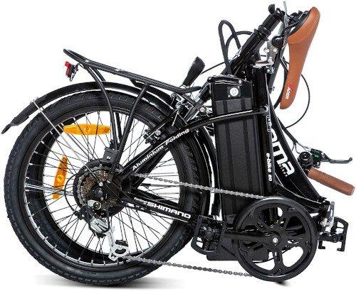 Moma Bikes Bicicleta Electrica Plegable Urbana EBIKE-20.2 plegada