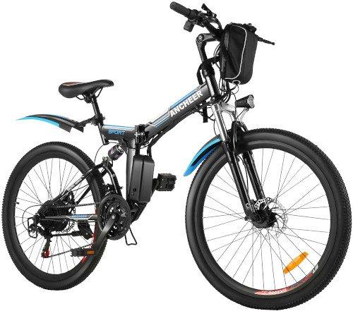 ANCHEER Bicicleta Eléctrica Plegable 26 Pulgadas