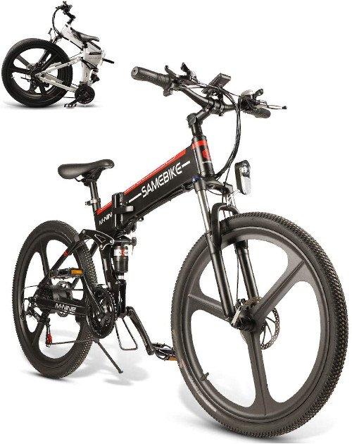 SAMEBIKE Mountain Bike de 26 Pulgadas, Bicicleta Electrica Montaña para Adultos