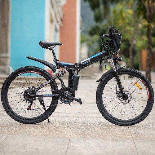 Speedrid Bicicleta Eléctrica, Bicicleta Plegable Eléctrica.jpg de lado
