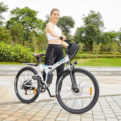Vivi Bicicleta Eléctrica Plegable, 26 Bicicleta Montaña Adulto chica